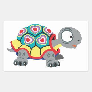 Adesivo Retangular tartaruga dos desenhos animados
