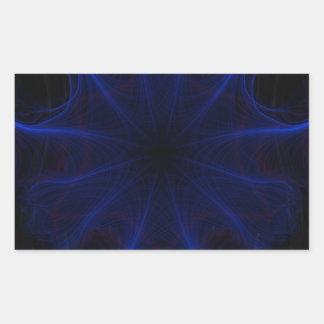 Adesivo Retangular teste padrão azul do laser
