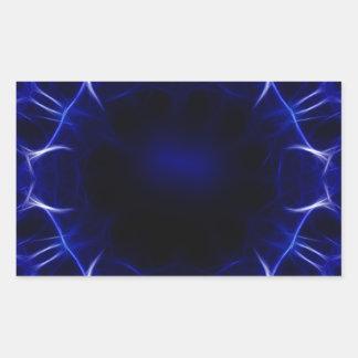 Adesivo Retangular teste padrão roxo do laser