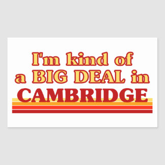 Adesivo Retangular Tipo de I´m de uma grande coisa em Cambridge