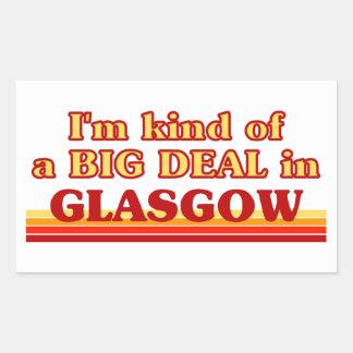 Adesivo Retangular Tipo de I´m de uma grande coisa em Glasgow