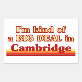 Adesivo Retangular Tipo de I'm de uma grande coisa em Cambridge