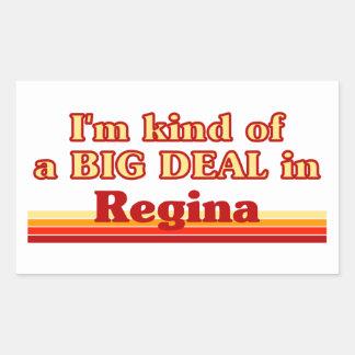 Adesivo Retangular Tipo de I'm de uma grande coisa em Regina