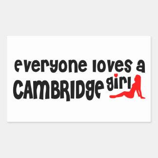 Adesivo Retangular Todos ama uma menina de Cambridge