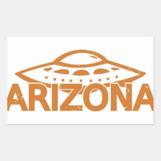 Adesivo Retangular UFO da arizona