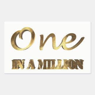 Adesivo Retangular Um em milhão tipografias elegantes de Brown do