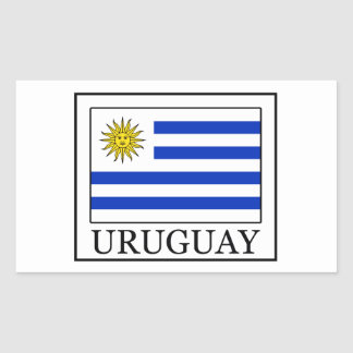 Adesivo Retangular Uruguai