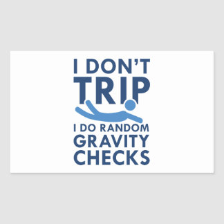 Adesivo Retangular Verificações da gravidade
