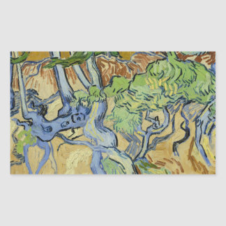 Adesivo Retangular Vincent van Gogh - Árvore-raizes