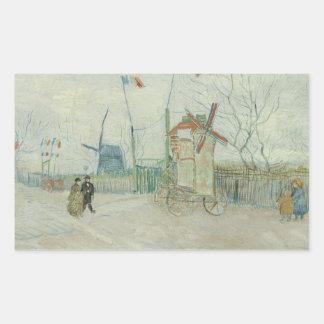 Adesivo Retangular Vincent van Gogh - DES Deux Freres do obstáculo