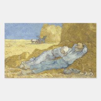Adesivo Retangular Vincent van Gogh - o Siesta (após o painço)
