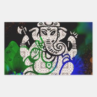 Adesivo Retangular Zen Ganesh