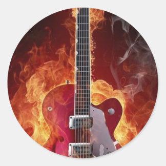 Adesivo Rock and roll   guitara