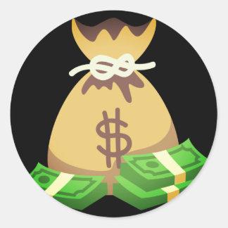 Adesivo Saco rico das impressões | do dinheiro Emoji