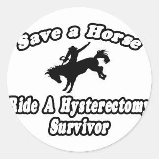 Adesivo Salvar o cavalo, sobrevivente da histerectomia do