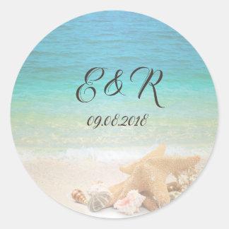 Adesivo Seashells do casamento de praia