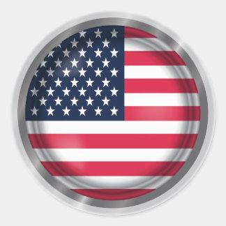 Adesivo Selo da bandeira dos EUA, arte da bandeira