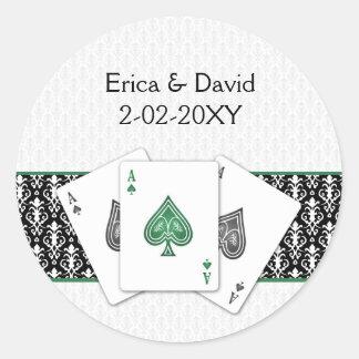 Adesivo Selo do envelope do casamento de Vegas