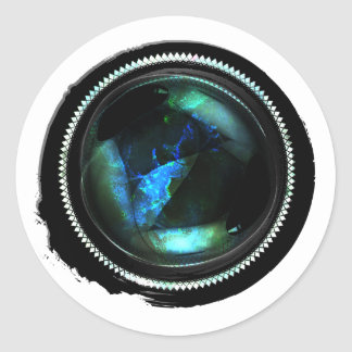 Adesivo Selo místico da crista do Opal da cera preta
