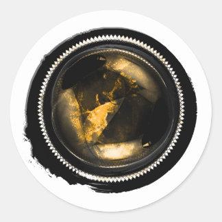 Adesivo Selo místico da crista do Opal do topázio do ouro