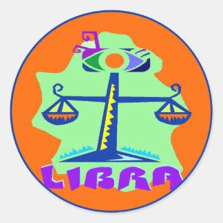 Adesivo Símbolo da escala do horóscopo do Libra do sinal