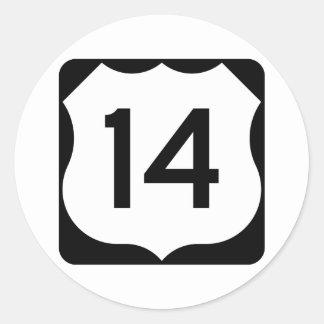 Adesivo Sinal da rota 14 dos E.U.