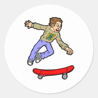 Adesivo Skate Skateboarding do divertimento do salto do ar