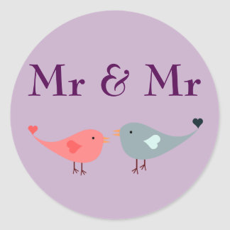 Adesivo Sr. & Sr. (casamento)