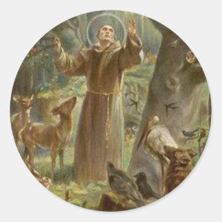 Adesivo St Francis de Assisi cercou por animais