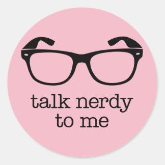 Adesivo sticker talk nerdy to me