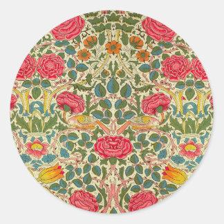 Adesivo Teste padrão floral do vintage de chintz