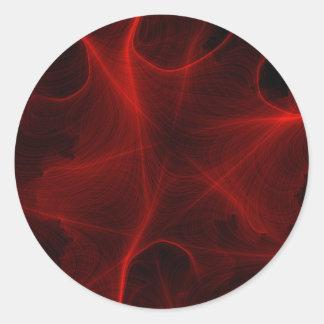 Adesivo teste padrão vermelho do laser