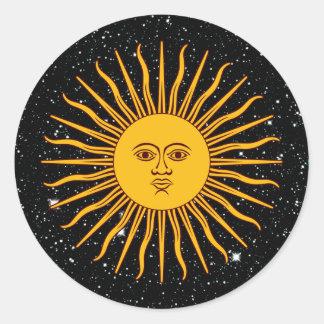 Adesivo THE SUN do ~ do tema do espaço de MAIO (solenóide