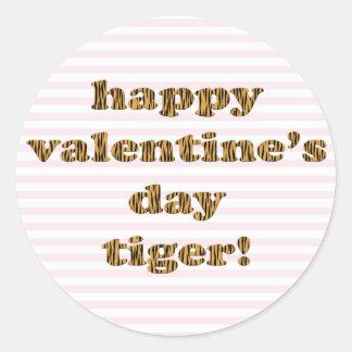 Adesivo Tigre do feliz dia dos namorados! Listras &