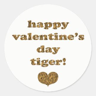 Adesivo Tipografia do impressão do tigre do feliz dia dos