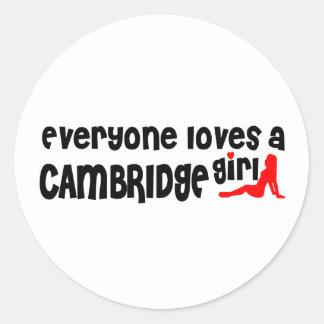 Adesivo Todos ama uma menina de Cambridge