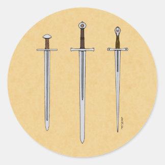 Adesivo Três espadas medievais 2016