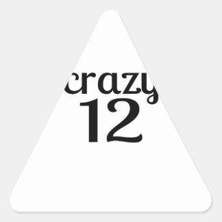 Adesivo Triangular 12 designs louco do aniversário