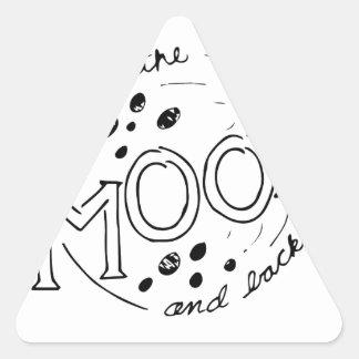 Adesivo Triangular À lua e ao design traseiro dos desenhos animados