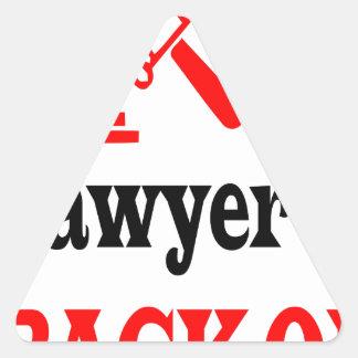 Adesivo Triangular A mamã do advogado