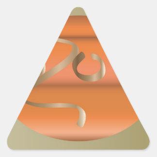 Adesivo Triangular abóbora