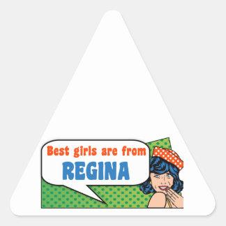 Adesivo Triangular As melhores meninas são de Regina