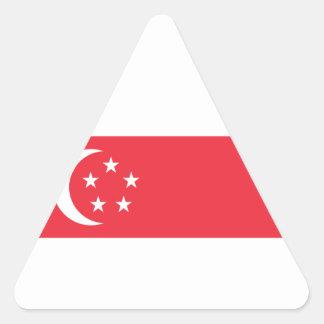 Adesivo Triangular Baixo custo! Bandeira de Singapore