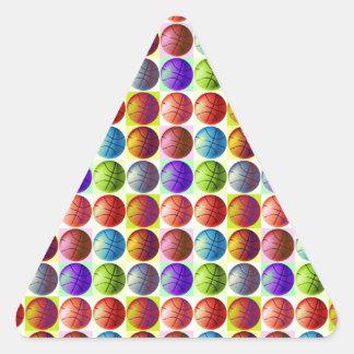 Adesivo Triangular Basquetebol do pop art