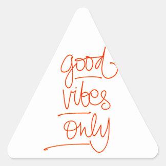 Adesivo Triangular Boas Vibrações - Good Vibes