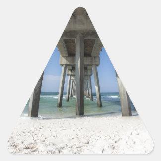 Adesivo Triangular Cais da praia da Cidade do Panamá