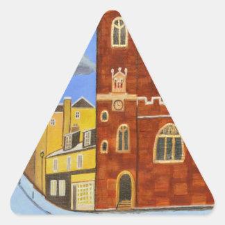 Adesivo Triangular Casa de Tudor em Exeter