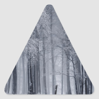 Adesivo Triangular Cena do inverno