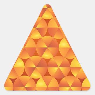 Adesivo Triangular Círculos alaranjados