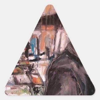 Adesivo Triangular cliente de Dublin da rua de moore